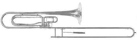 Thein contrabass trombone in F/Bb/Eb with long F slide