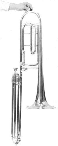 Thein contrabass trombone in EEb/BBb built for Dick Tyack